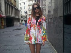 raincoat- desigual bag-louis vuitton sunglasses- budapest(no brand)