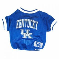 Your pet will look simply adorable in this Kentucky Wildcats Jersey! Available in Large, Medium, Small, and Extra Small