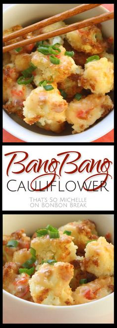 Bang Bang Cauliflower - This is a family favorite vegetarian side dish. So much so that my son asks for it for his birthday and Christmas!