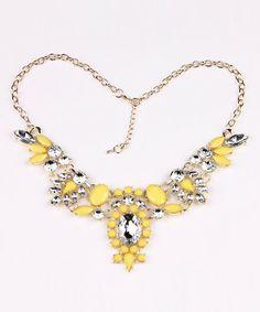 Lemon Meringue Statement Necklace $14.99