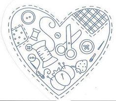 corazón de costura