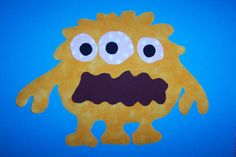 Fabric Applique TEMPLATE ONLY Splat The Monster by etsykim on Etsy