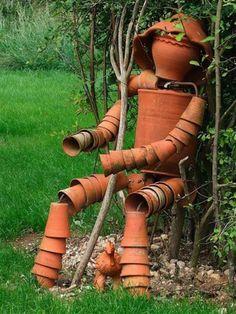 15 wunderschöne ideen für ausgefallene gartendeko - originelle, Garten und erstellen