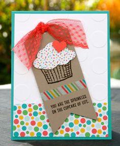 Krystal's Cards: Stampin' Up! Sprinkles of Life June Online Stamp Club #krystal_cards #stampinup #sprinklesoflife #onlinestampclub #stampsomething #sendacard #papercrafts #handstamped #cardmaking #sharethefun #cupcakecard