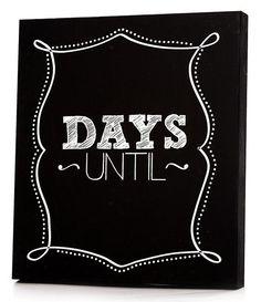 Days Until Chalkboard Panel - Days Until Chalkboard - Chalkboard Countdown - Cute Chalkboard - Chalkboard Sign   HomeDecorators.com