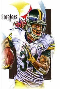 2e547fdd9dc Deangelo Williams Metal Print featuring the mixed media Deangelo Williams  Pittsburgh Steelers Oil Art by Joe Hamilton