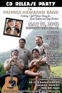 PAHINUI HAWAIIAN BAND CD RELEASE PARTY    BigISland