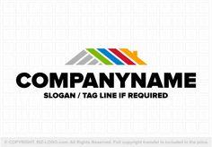 Pre-designed logo 3067: Rainbow Roofs Logo