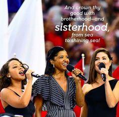 The Original Schuyler Sisters at the Super Bowl #andsisterhood