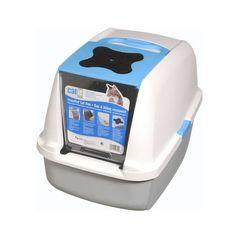 CATIT Katzentoilette mit Klappbarer Abdeckung - Blau