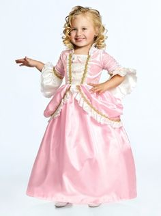 Pink Parisian Princess Dress - perfect Halloween costume! I love the longer sleeves. Only $29. Sizes 12 months - 9 years old