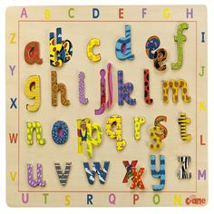 What better way to introduce or teach the alphabet than through play with the Tidlo Lift And Look Alphabet Wooden Kids Puzzle!