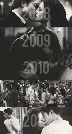 On pourrait faire ça : chaque année une photo d'un baiser...et le temps qui passe...et l'amour qui ne faiblirai pas.