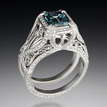Unique Engagement and Wedding Rings by Krikawa inspired by Moulin Rouge