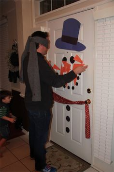Pin the nose on a snowman