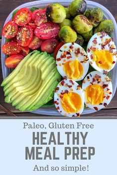 Healthy Meal prep breakfast- this easy paleo meal prep breakfast is a perfect meal prep for one! Ready to eat on the go or on a busy morning.