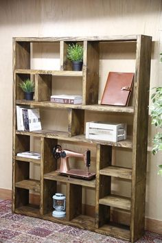 Fine Woodworking How To Make .Fine Woodworking How To Make Reclaimed Wood Bookcase, Rustic Bookcase, Rustic Shelves, Woodworking Furniture, Woodworking Projects, Diy Furniture, Woodworking Techniques, Woodworking Beginner, Woodworking Organization