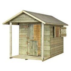 Het ANDY PARK speelhuis is een elementen speelhuis. D.w.z. dat de zijwanden, het dak enz. al zijn voorgeassembleerd. Het huis is inclusief dakbedekking en in dit geval OOK inclusief vloer!   Huisje is voorzien van een overdekte veranda, luikjes en 2 halve deurtjes.  Bel voor de verzendkosten naar belgie.
