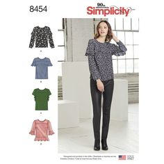 Simplicity Misses' Tops 8454 - The Fold Line
