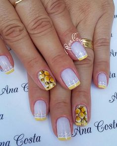 Decorated Nails the 160 Best Designs and Models Trends Flower Nail Designs, Diy Nail Designs, Toe Nail Art, Toe Nails, Beautiful Nail Designs, Fabulous Nails, Flower Nails, Nail Stamping, Nail Arts