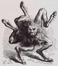 """[D]emon of the second class, presiding over hell; he is formed like a star or wheel with 5 rays and moves by rolling. . . .  He teaches philosophy, logic and the virtues of medicinal herbs."" From J.A.S. Collin de Plancy's *Dictionnaire Infernal* (Paris, 1863)."