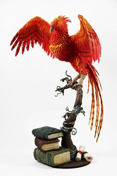 Fawkes phoenix Dumbledore (Harry Potter sculpture) by ColibriWorkshop on DeviantArt