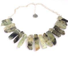 Absolutely stunning prehnite gemstone necklace. #fashion #style #jewellery