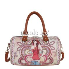 Nicole Lee Marina Print Boston Bag,Marina,One Size Nicole Lee,. Womenu0027s  Handbags