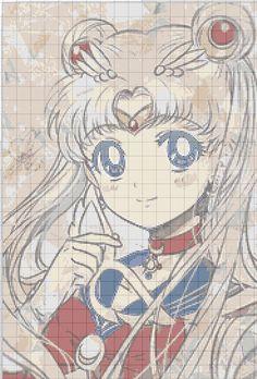 Sailor moon cross stitch <3