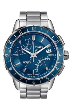 Timex® 'Intelligent Quartz' Flyback Chronograph Bracelet Watch available at Nordstrom $185
