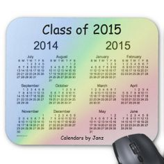 Class of 2015 Calendar by Janz Mouse Pad