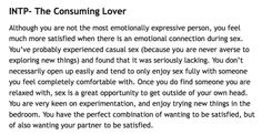 INTP - the consuming loner