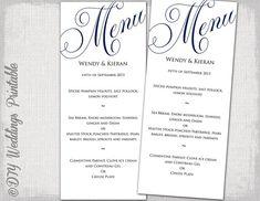 Die Cut Menu Card Laurie Collection Sample By Interprintations