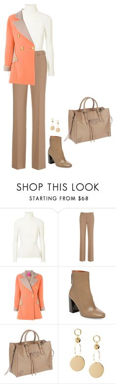 """""""Sem título #3106"""" by mprocedi ❤ liked on Polyvore featuring JoosTricot, Christian Lacroix, Pure Navy and Balenciaga"""