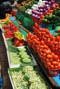 Puesto del mercado en San Cristobal de las Casas, Chiapas, México.