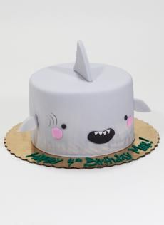 Adorable Kawaii cakes perfect for baby showers and birthday parties. All original Kawaii cake designs by Whipped Bakeshop, Philadelphia. Fondant Cakes, Cupcake Cakes, Dog Cakes, Shark Cake, Shark Cupcakes, Shark Birthday Cakes, Ocean Cakes, Animal Cakes, Dessert Decoration