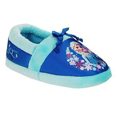 Disney Frozen Elsa Slippers Toddler Girl Medium 7/8 Blue -- You can find more details by visiting the image link.