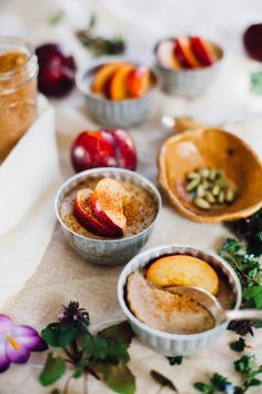 vegan brown sugar coconut milk panna cotta topped w/ plums | recipe via will frolic for food