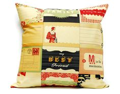 Cosmo Cricket Pillow cover   18x18 cushion cover by LilachOren, $25.00