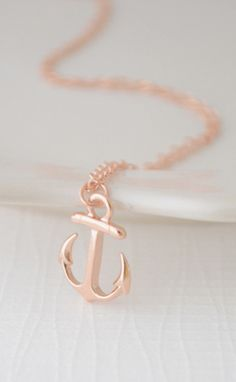 #Anchor Necklace Rose Gold by  Olive Yew #jewelrydesign #designtrend #nautical