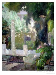 The Gardens at the Sorolla Family House, 1920 by Joaquín Sorolla y Bastida