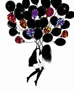 20+ Siyah Beyaz İllüstrasyon ile Yalnızlık ve Kadına Bakış: Danijela Simic Sanatlı Bi Blog 4