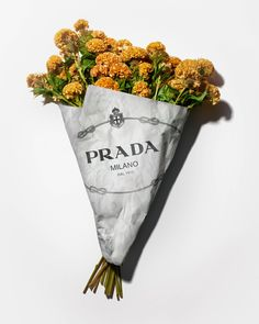 Flower shop bouquets by Prada for Resort 2020 /Higher experience fashion brand. Prada, Flower Packaging, Design Museum, Flower Fashion, Pick One, Aesthetic Pictures, Fashion Brand, Fashion Fashion, Fashion Ideas