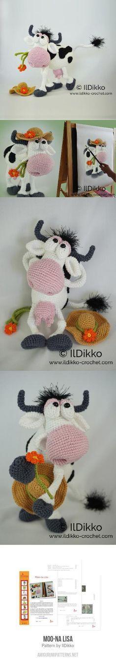 Moo-na Lisa amigurumi pattern