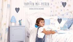 Babyzimmerideen mit Tapeten: Esta Home Tapeten mit Tieren bei Fantasyroom