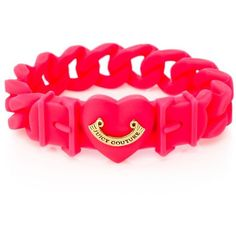 Juicy Couture Jelly Banner Heart Bracelet found on Polyvore