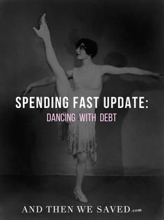 Since entering this new round of my Spending Fast, I feel like my debt opponent and I are just dancing around each other in the ring. | AndThenWeSaved.com