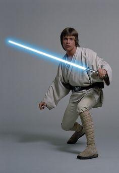 Mark Hamill as Luke Skywalker in 'Star Wars', 1977 Star Wars Luke Skywalker, Anakin Skywalker, Mark Hamill, Costume Star Wars, Jedi Costume, Star Wars Party, Equestria Girls, Star Wars, Star Wars Art