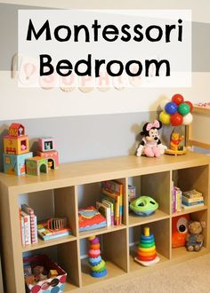 Tips on making your toddler a functional montessori bedroom.