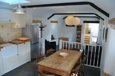 The kitchen/dining area of this superb Treen barn conversion